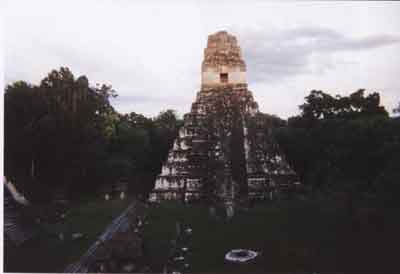 Pyramid Templo I in Tikal National Park