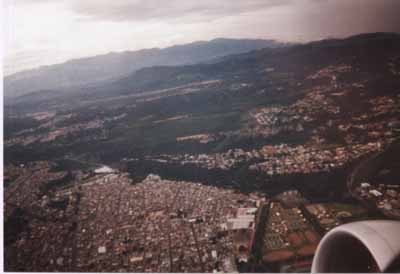 Guatemala City - bird eye´s view