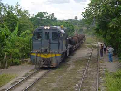 Train from El Rancho to Guatemala in Sanarate