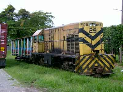 Passenger train in La Ceiba