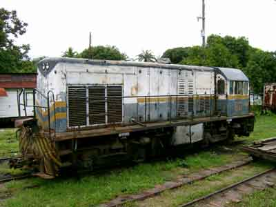 Engine in La Ceiba depot