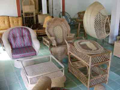 View of more luxurious furniture produced in nahuizalco the