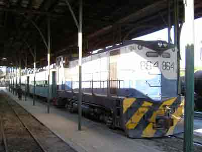 San Salvador - Passenger train of FENADESAL at Terminal Oriente