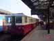 Diesel railcar 830 waits at the main station in Prague